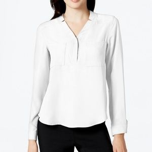 Nine West Notched-Collar Blouse Lily Size XL